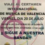 Viaje a Certamen Internacional de Música de Valencia