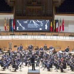 "•AGRUPACIÓN MUSICAL LOS MONTESINOS (ALICANTE)  •SOCIETAT MUSICAL ""LA ARMÓNICA"" DE COX (ALICANTE) •UNIÓN MUSICAL POZUELO DE ALARCON (MADRID) •UNIÓN MUSICAL DE TORRE PACHECO (MURCIA) •SOCIETAT ARTÍSTICA MUSICAL DE BENIFAIÓ (VALENCIA) •SYMPHONISCHES BLASORCHESTER KREUZLINGEN (SUIZA)  Banda Invitada: Nineties Trombone Ensemble España"